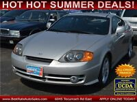 2003 Hyundai Tiburon GT V6 Coupe, SUNROOF/LEATHER, ONLY 74000 KM