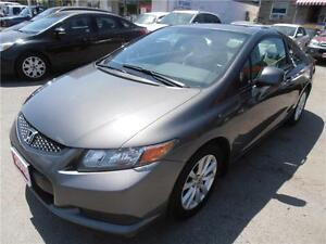2012 Honda Civic Coupe LX Grey Sunroof Auto 1.8L 91,000km