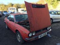 Classic car 1981 Lancia Beta 2000 low mileage brakes are seized, car located in Gravesend,