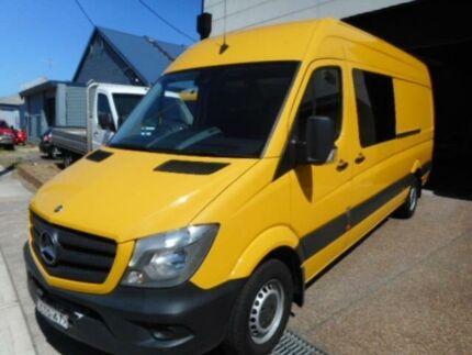 2014 Mercedes-Benz Sprinter 906 MY14 316 CDI LWB HI Roof Yellow 7 Speed Automatic Van
