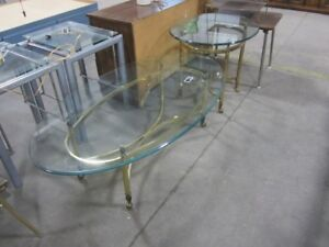 Glass coffee and end table - 7221O