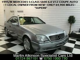 1995/M Mercedes-Benz S-Class S600 6.0 V12 Coupe Automatic~VERY RARE~W140~