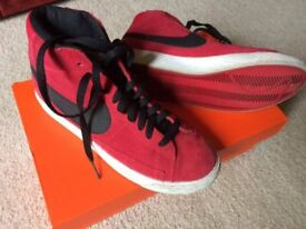 Nike Red Suede High Tops UK Size 5