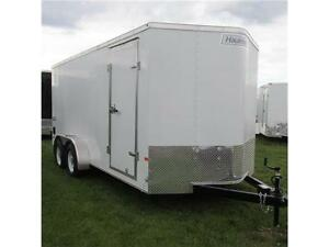 New 2015 Haulmark 7X16 V-Nose Cargo & Toy Hauler w. Extra Height