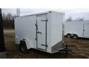 ENCLOSED CARGO TRAILER 5X8+2 V-NOSE