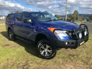 2011 Mazda BT-50 XT (4x4) Blue 6 Speed Automatic Dual Cab Utility Dapto Wollongong Area Preview