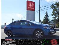 2013 Honda Civic EX, Rear Camera, Heated Seat, One owner !!