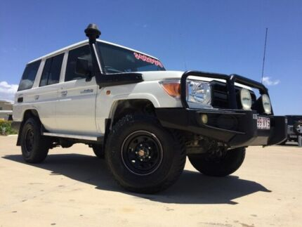 2012 Toyota Landcruiser VDJ76R Workmate White 5 Speed Manual Wagon Garbutt Townsville City Preview