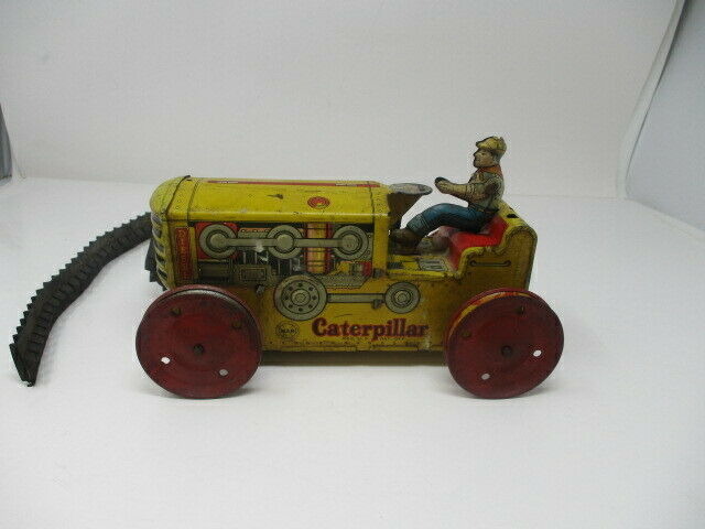 Vintage MAR Toys Wind Up Tractor Toy