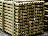 Round wooden treated fence post stakes, wood wire fencing 1.5m x 60mm Diameter