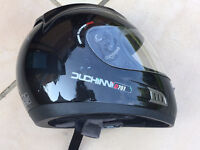 Black Motorbike Helmet (SMALL)