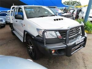 2013 Toyota Hilux KUN26R MY14 SR5 Double Cab White 5 Speed Manual Utility Minchinbury Blacktown Area Preview