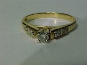 #2613-14k Y/W/Gold DIAMOND ENGAGEMENT(.25CT) APPRAISED $1950.00 SELL $525.00-FREE S/H in CANADA -INTERAC BANK TRANSFER
