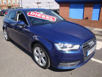 13 AUDI A3 TDI (NEW MODEL) 150 BHP SPORT 5 DOOR DIESEL £20 A YEAR TAX SATNAV