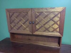 Solid wood Medicine cabinet with locking compartment