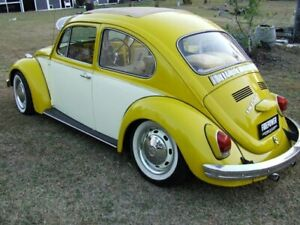 1970 Volkswagen Beetle Yellow & White Manual Coupe Capalaba Brisbane South East Preview