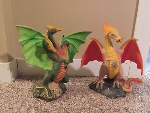 Two custom made one-of-a-kind dragons with gems