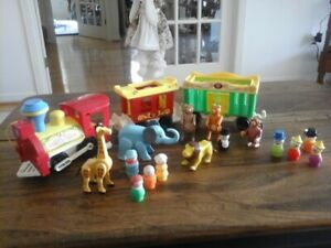 Vintage Fisher Price  Circus Train Set with Animals and People