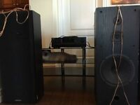 Stereo Setup With TV Stand For Sale