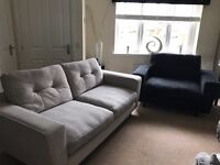 ***Price reduced*** Three Seater Sofa and Black Cuddle For Sale