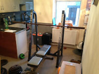 weights set with many extras