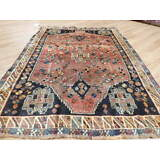 Ca1930s VG DY ANTIQUE PERSIAN QASHQAI YALAMEH SERAPI HERIZ 6x8 ESTATE SALE  RUG
