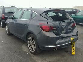 VAUXHALL ASTRA J PASSENGERS REAR DOOR NSR IN GREY USED
