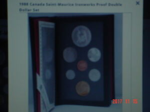 1988 CANADA PROOF DOUBLE DOLLAR 7 COIN SET.