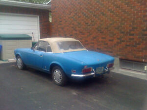 1971 FIAT SPIDER SPORT 124 1608 cc AS IS CONDITION
