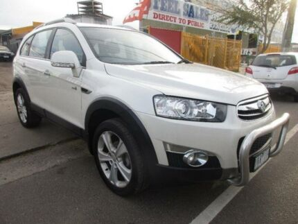 2011 Holden Captiva CG Series II 7 LX (4x4) White 6 Speed Automatic Wagon Hoppers Crossing Wyndham Area Preview