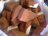 Broken bricks (suffolk reds)