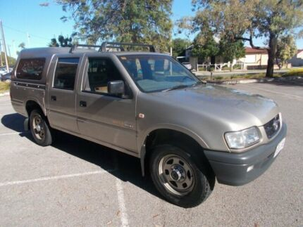 2002 Holden Rodeo TF MY02 LX Crew Cab Gold Beige 5 Speed Manual Utility Alberton Port Adelaide Area Preview