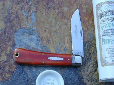 GREAT EASTERN GEC NORTHFIELD CAMEL BONE OREGON TRAPPER KNIFE 1/469 MIT 431118