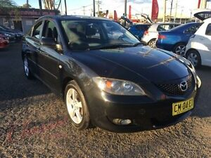 2004 Mazda 3 BK Maxx Black 5 Speed Manual Sedan Lansvale Liverpool Area Preview