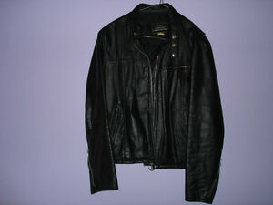 mens leather jacket ,black, reduced price