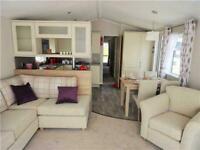 luxury 8 berth static caravan for sale at Trecco Bay in Porthcawl