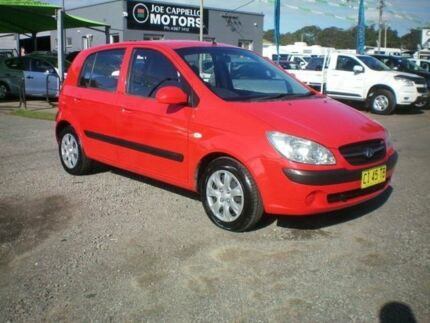 2009 Hyundai Getz TB MY09 SX Red 4 Speed Automatic Hatchback Heatherbrae Port Stephens Area Preview