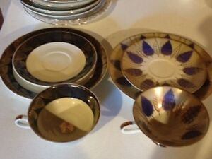 Antique cup/saucer/cake plate sets