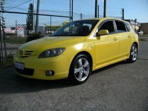2005 Mazda 3 BK SP23 Yellow 5 Speed Manual Hatchback Wangara Wanneroo Area Preview