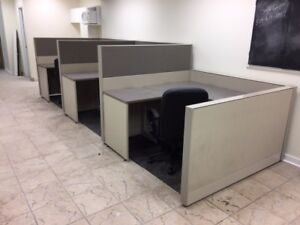 CUBICLES, WORK STATIONS, OFFICE FURNITURE, NEW & USED