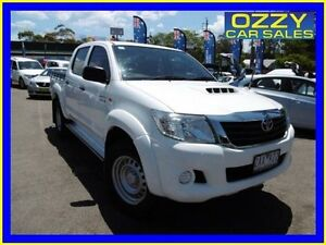 2012 Toyota Hilux KUN26R MY12 SR (4x4) White 4 Speed Automatic Dual Cab Pick-up Penrith Penrith Area Preview