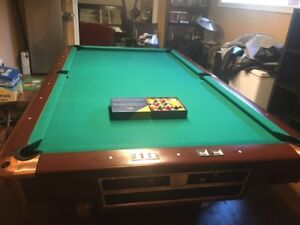 Billiards Table and Accessories