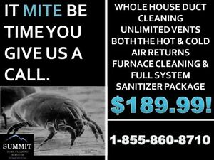 DUCT CLEANING $189.99! INCLUDES FURNACE CLEANING & SANITIZER! Stratford Kitchener Area image 1