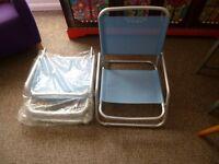 habitat festival/garden folding chairs x 2 in blue