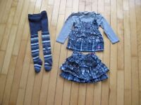 Mini Ungava 3 piece outfit size 4  great for Valentine's Day