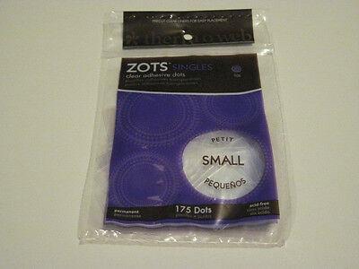 Scrapbooking Crafts Zots Small Petite Singles 175 Glue Dots Clear Bag - Scrapbooking Glue