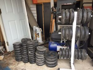 Weight plates - over 300lbs