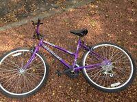 15 gear purple bike in good condition