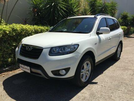 2012 Hyundai Santa Fe CM MY12 SLX CRDi (4x4) White 6 Speed Automatic Wagon Bowen Hills Brisbane North East Preview