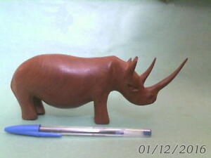 WOODEN RHINOCERUS CARVING